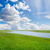 green grass and cloudy sky with river stock photo © mycola