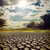 hot sun over drought earth with cracks stock photo © mycola