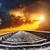 dramatic sunset over railroad stock photo © mycola