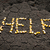 palavra · ajudar · milho · rachado · terra - foto stock © mycola