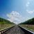 railroad to horizon in green landscape stock photo © mycola
