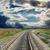 railroad to horizon and dramatic sky stock photo © mycola