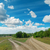 two rural road to horizon under cloudy sky stock photo © mycola