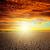 laranja · pôr · do · sol · nublado · céu · deserto · paisagem - foto stock © mycola