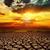 fantastic sunset over cracked earth stock photo © mycola