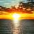 赤 · 日没 · 川 · 空 · 太陽 · 風景 - ストックフォト © mycola