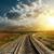 railroad goes to horizon in sunset stock photo © mycola