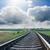 ferrovia · cascalho · trem · futuro · aço · maneira - foto stock © mycola