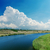 sky clouds and river summer landscape stock photo © mycola