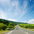 asphalt road to horizon in mountain and blue sky stock photo © mycola