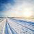 冬 · 風景 · 日没 · 道路 · 雪 · 空 - ストックフォト © mycola