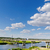bridge over river and blue sky stock photo © mycola