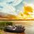 лодка · небольшой · красный · синий · коричневый - Сток-фото © mycola