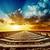magic sunset over railroad to horizon stock photo © mycola