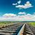 railroad closeup to cloudy horizon stock photo © mycola