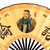 Confucius portrait on Chinese fan (clipping path!) isolated  stock photo © myfh88