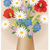 pradera · flores · silvestres · verde · vector · mariposas · primavera - foto stock © myosotisrock