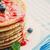 pannenkoeken · jam · ontbijt · voedsel · bosbessen · hout - stockfoto © mythja