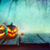 forêt · pleine · lune · table · en · bois · halloween · arbre - photo stock © mythja