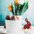 Пасху · красочный · яйца · желтый · тюльпаны · кролик - Сток-фото © mythja