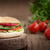 ham · sandwich · brood · tomaten · gekruld - stockfoto © mythja