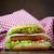 vis · hamburger · sandwich · diep - stockfoto © mythja