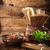 macarrão · tomates · ovos · mesa · de · madeira · madeira · fundo - foto stock © mythja