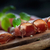 secas · carne · de · porco · salame · presunto · ervas · madeira - foto stock © mythja