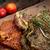 marinált · disznóhús · kotlett · zöldségek · zöldbab · piros - stock fotó © mythja