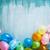 Blauw · verjaardagstaart · ingericht · cake · gelukkige · verjaardag · schrijven - stockfoto © mythja