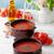 domates · çorbası · fesleğen · taze · sebze · ekmek · kırmızı · kaşık - stok fotoğraf © mythja