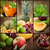 fresh fruit and juice collage stock photo © mythja