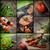 レストランの食べ物 · コラージュ · 異なる · レストラン · 料理 · 白 - ストックフォト © mythja