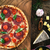 rustik · pizza · domates · peynir · salam · basit - stok fotoğraf © mythja