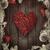 中心 · 花輪 · 小枝 · 装飾された · 赤いバラ - ストックフォト © mythja