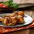 pollo · a · la · parrilla · piernas · alimentos · barbacoa · pierna - foto stock © mythja