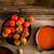 crema · di · pomodoro · legno · fatto · in · casa · pomodori · erbe · spezie - foto d'archivio © mythja
