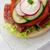 delicious ham cheese and salami sandwich stock photo © mythja