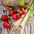 vegetariano · tomates · hierbas · aceite · de · oliva · ajo - foto stock © mythja