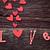 bağbozumu · hediye · kutusu · küçük · kalpler · ahşap - stok fotoğraf © mythja