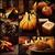 autumn dinner collage stock photo © mythja