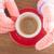 manos · taza · mujer · madura · mano · café - foto stock © nalinratphi