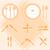 bestek · plaat · iconen · icon · illustraties · vork - stockfoto © nalinratphi