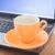 tea time break of work stock photo © nalinratphi