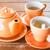 hot tea with ceramic cups and pot stock photo © nalinratphi