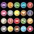 musica · colore · icone · lungo · ombra · bianco - foto d'archivio © nalinratphi