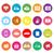 vetor · ícones · freelance · negócio · conjunto · círculo - foto stock © nalinratphi