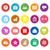 smart phone flat icons on white background stock photo © nalinratphi