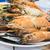 préparé · crevettes · plateau · citron · persil · vertical - photo stock © nalinratphi