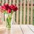 赤いバラ · 白 · 木製のテーブル · 日 · 女性 - ストックフォト © nalinratphi